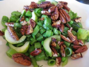 green Pea and Pecan Salad
